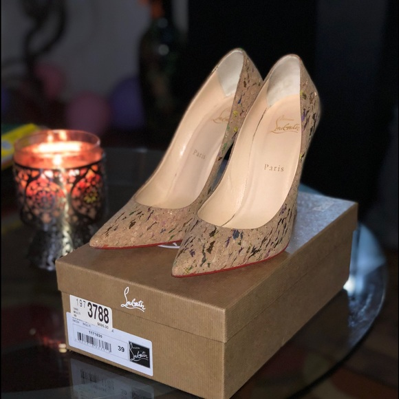 78fa91fe31a Christian Louboutin Shoes - Pigalles Christian Louboutin multi color cork  pump